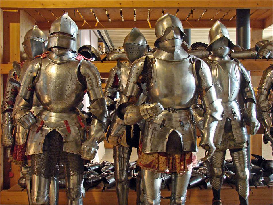 armored dudes at the Paris Army Museum