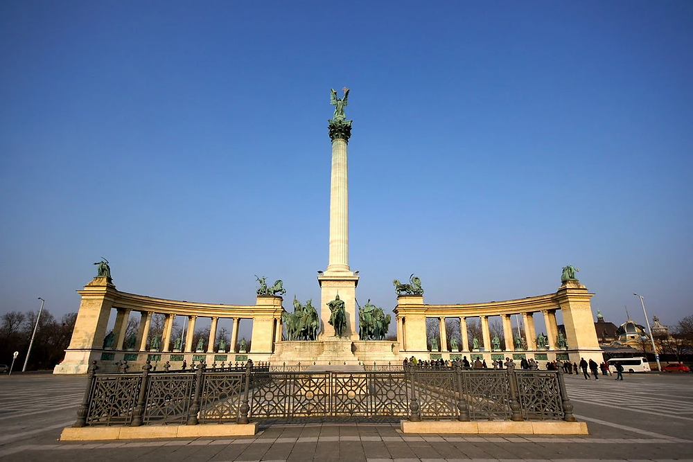 the Millennium Monument in Heroes' Square