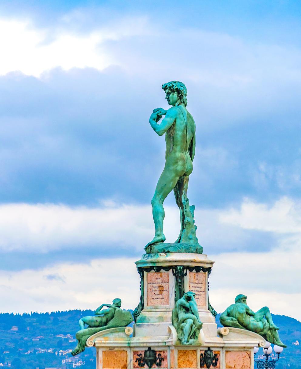 copy of Michelangelo's David in Piazzale Michelangelo