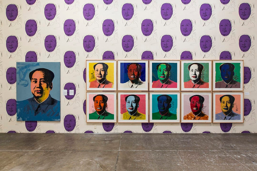 Andy Warhol Museum's fourth floor Mao installation