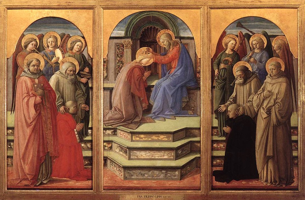 Fra Filippo Lippi, Coronation of the Virgin with Musical Angels and Saints, 1444