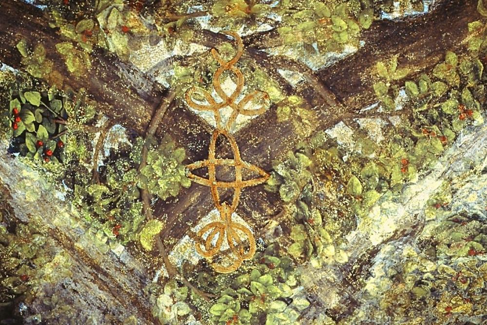 detail off Leonardo's fresco