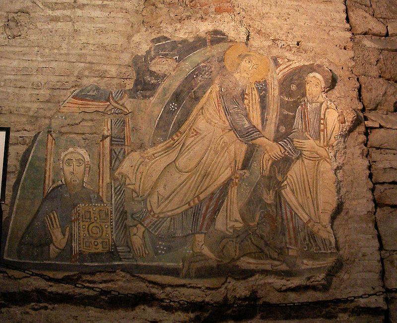 frescos in the 4th century church