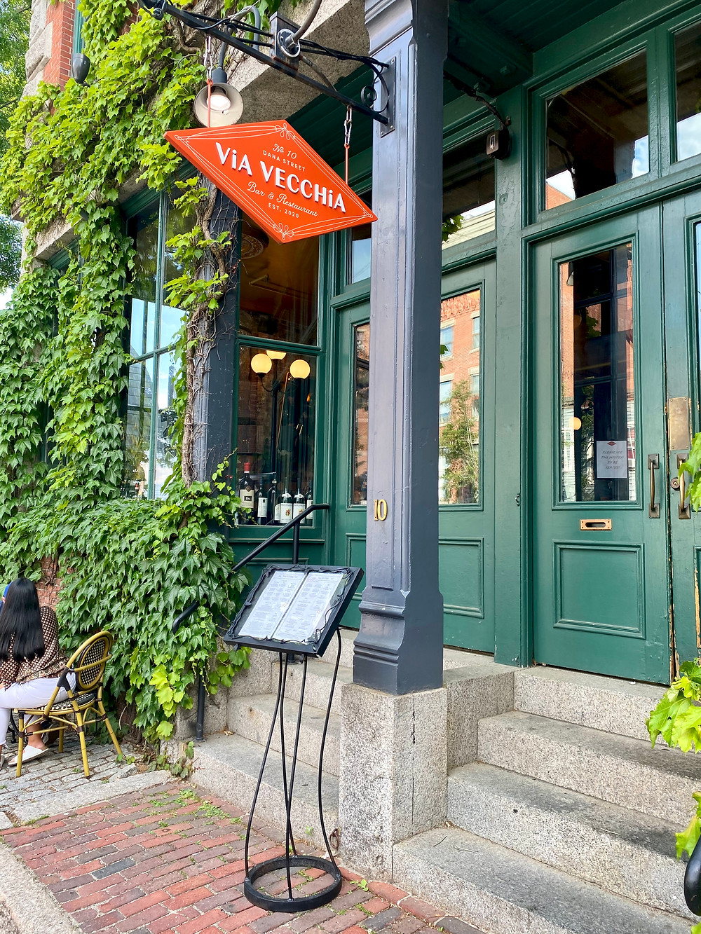 Via Vecchio, an authentic Italian restaurant covered in ivy