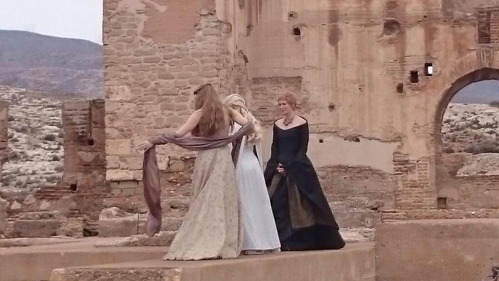 a scene shot in Almeria's Alcazaba