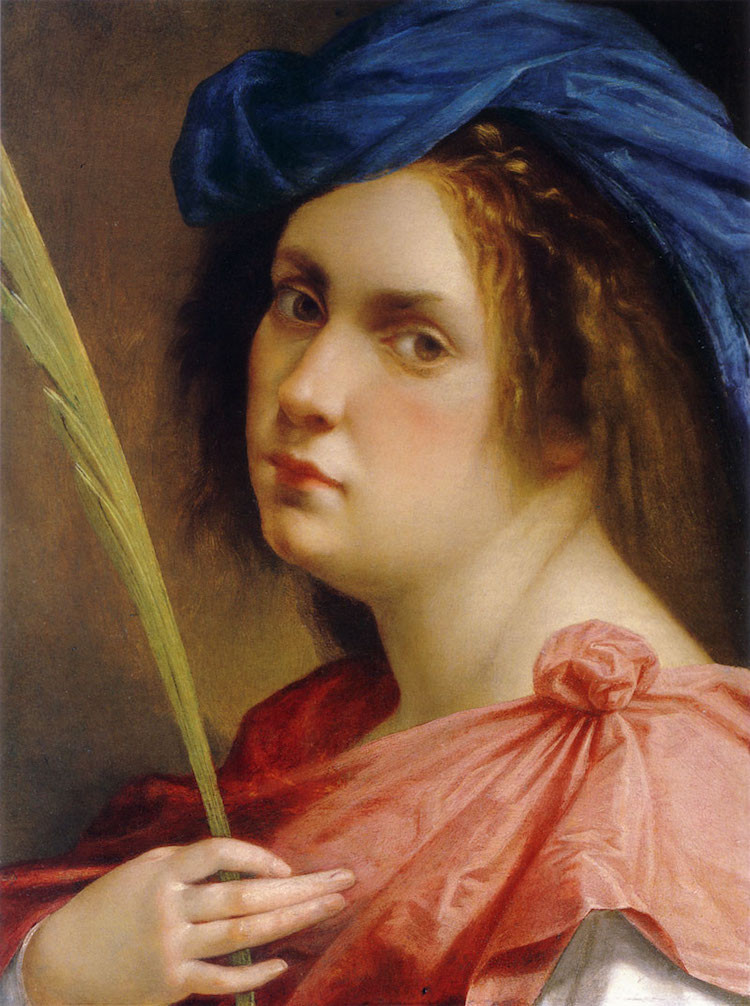 Artemisia Gentileschi, Self Portrait as a Martyr, 1615