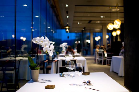 Azurmendi Restaurant, a three star Michelin restaurant in Bilbao Spain