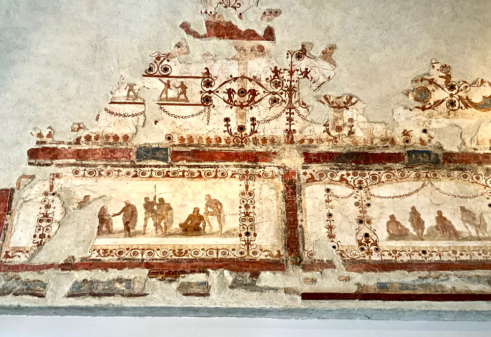 fragments of a fresco from Nero's Domus Transitoria in the Palatine Museum