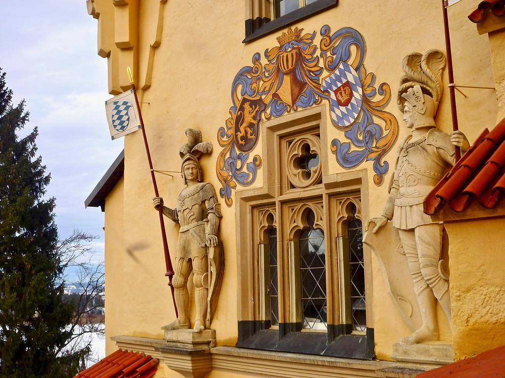 the colorful entrance to Hohenschwangau Castle