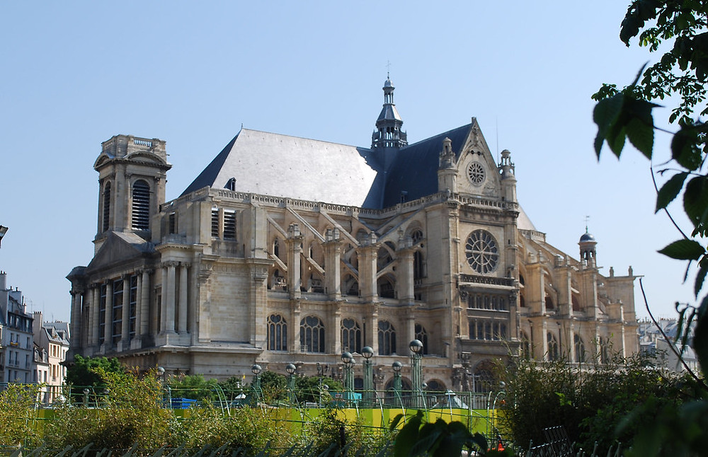 Eglise Saint-Eustache in Paris' Les Halles neighborhood