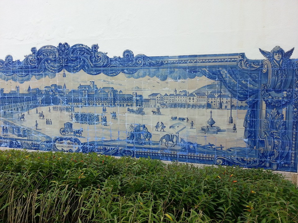 azulejo tile panel in Alfama