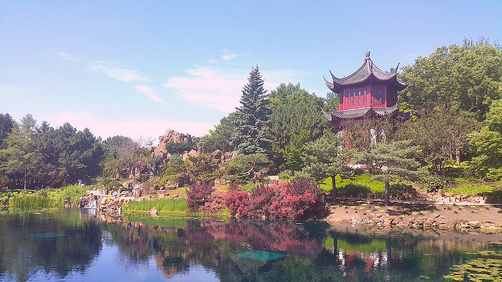the Chinese Garden at the Montreal Botanical Gardens