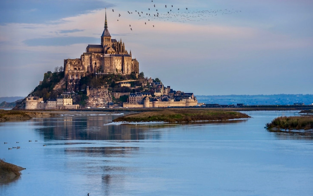 Mont Saint-Michel at high tide