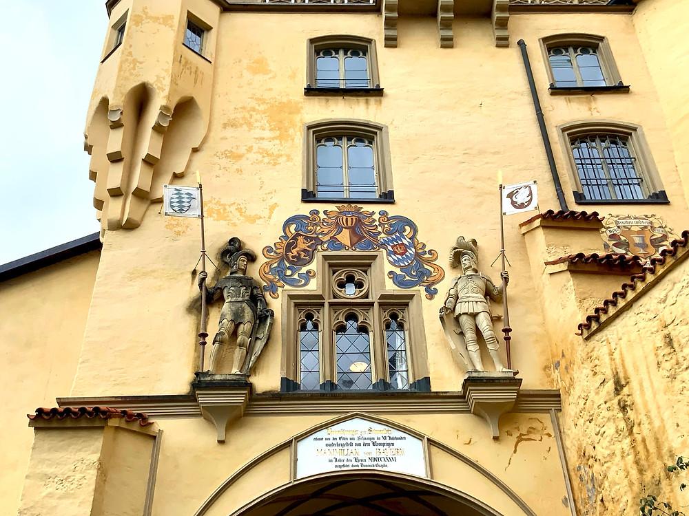 the entrance to Hohenschwangau Castle