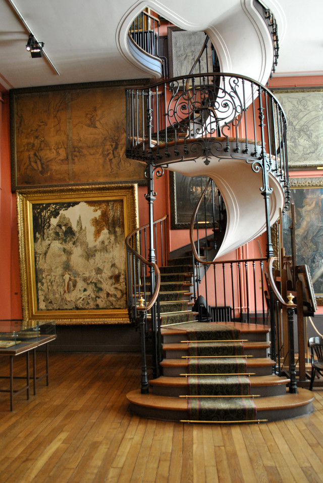 the incredible staircase in the Gustave Moreau Museum designed by architect Albert Lafon in 1895