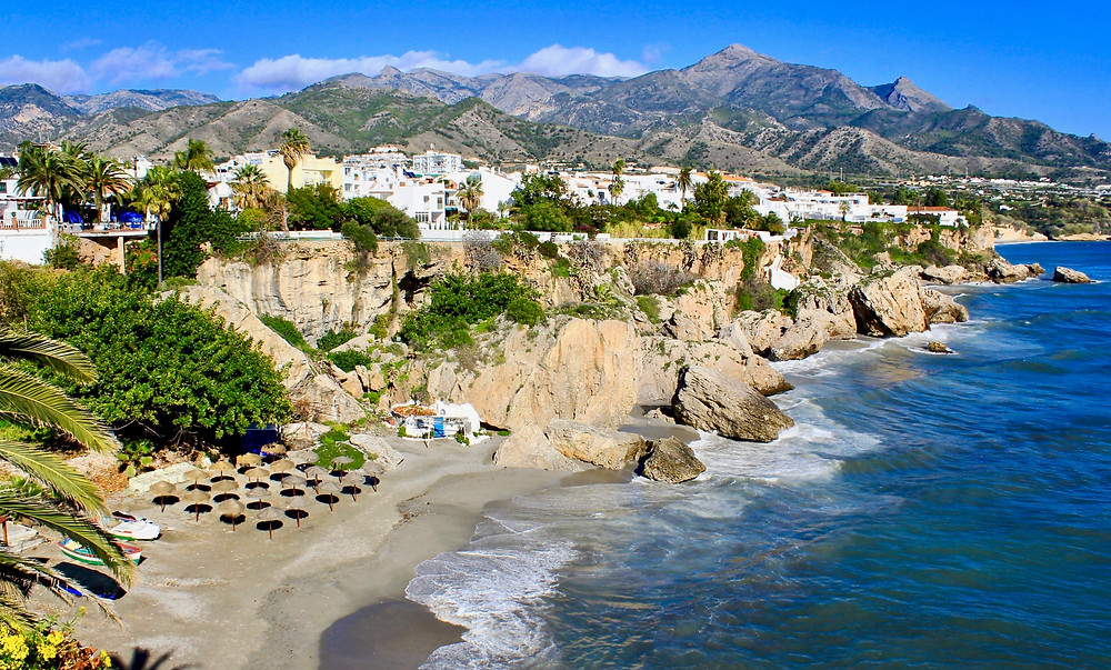 view of Nerja from the Balcony of Europe