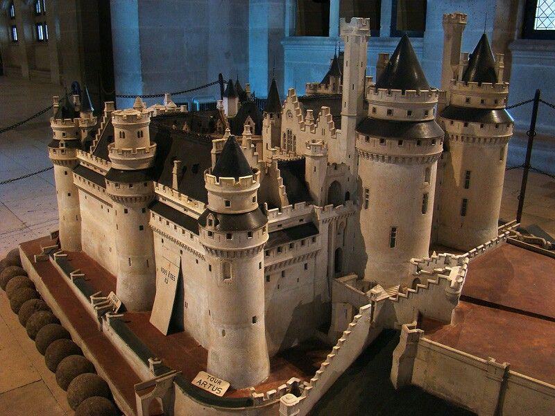 stone model of Pierrefonds Castle
