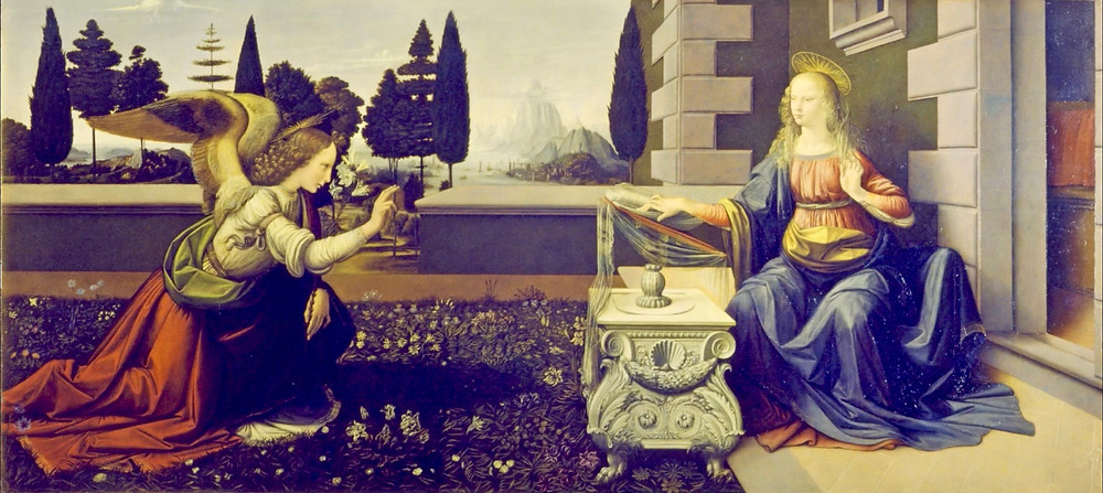 Leonardo da Vinci, The Annunciation, 1472-80