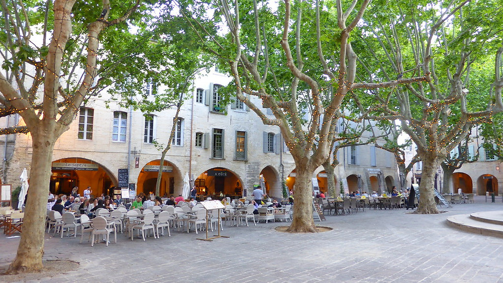 the Place aux Herbes in Uzes