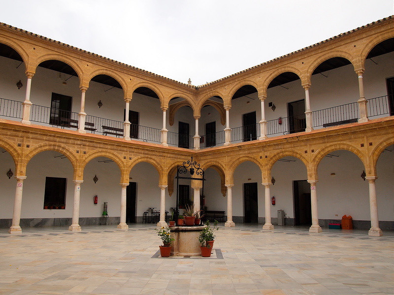 interior arcaded Renaissance patio of the University of Osuna