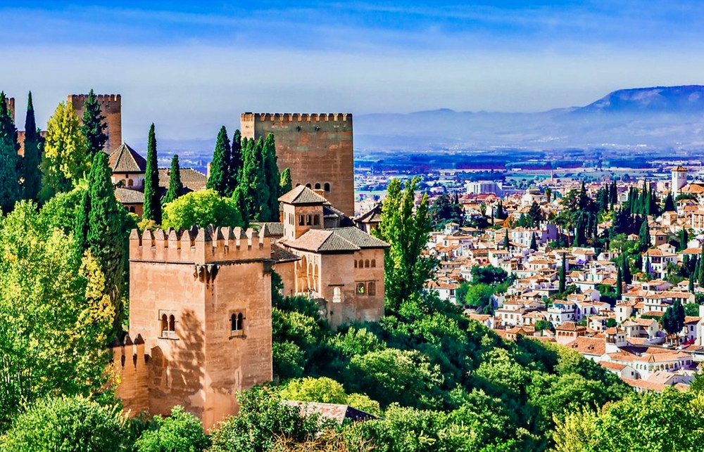 the Alhambra and views of Granada
