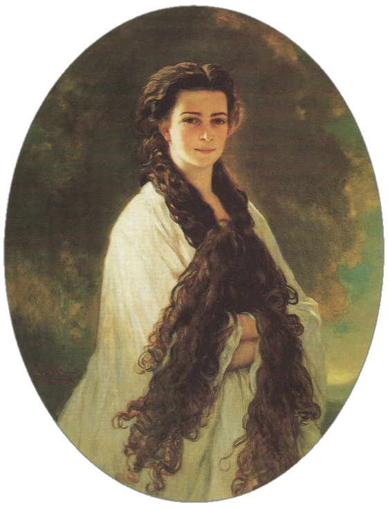 Franz Xaver Winterhalter (German, 1805-1863). Empress Elisabeth of Austria, 1864.