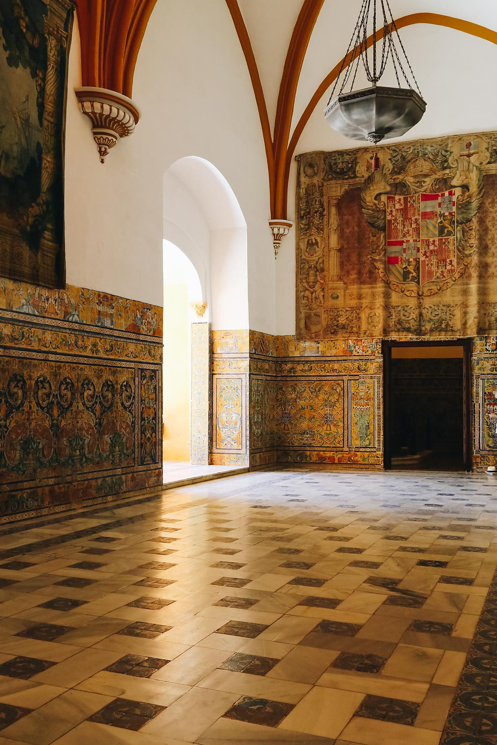 the Celebration Room in the Alcazar's Gothic Palace