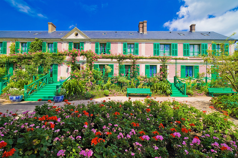 the artist Claude Monet's house in Giverny, a must visit town in Normandy