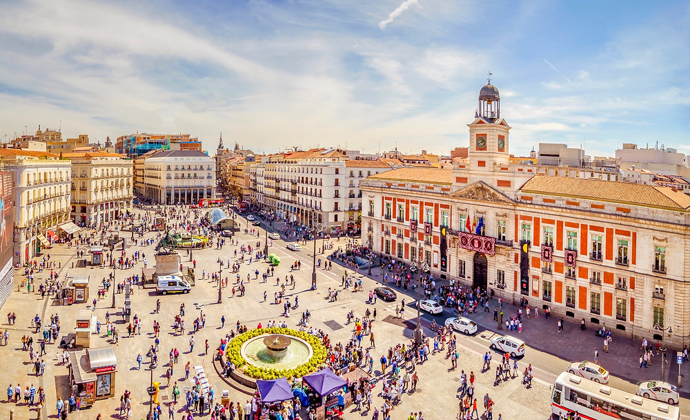 Puerta del Sol, the main public square in Madrid