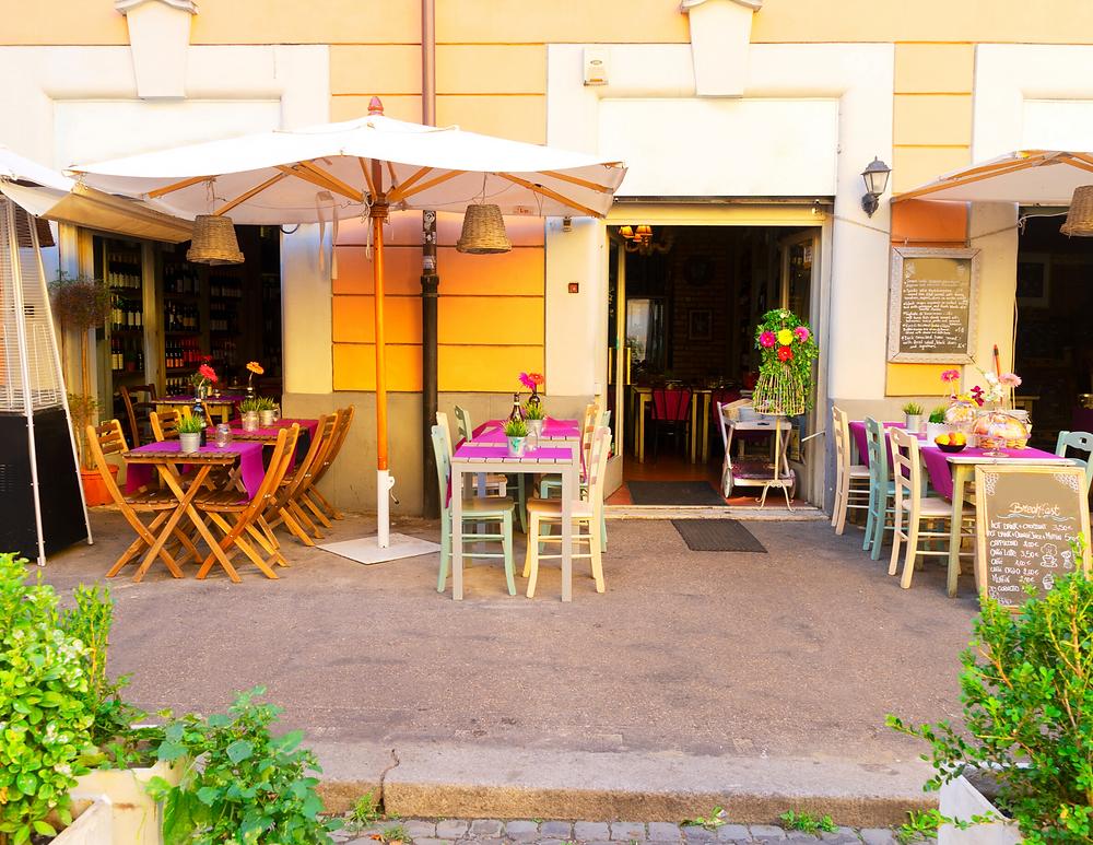 cute cafe in Trastevere