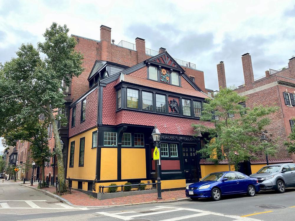 the Sunflower House on Mount Vernon Street