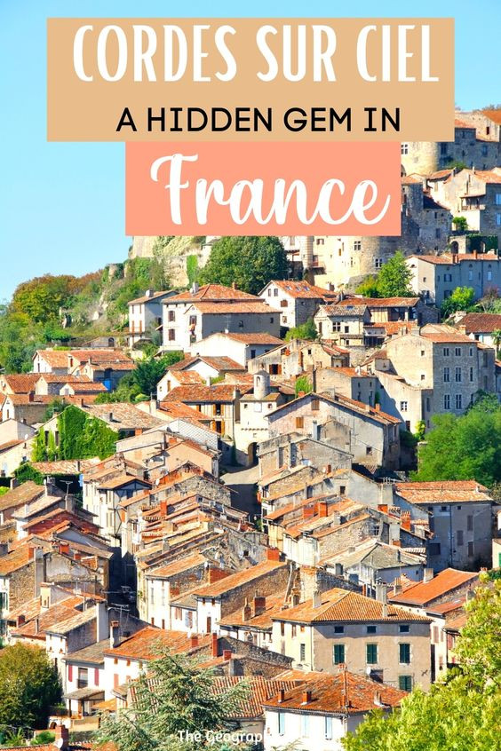 guide to the hidden gem village of Cordes Sur Ciel in the south of France