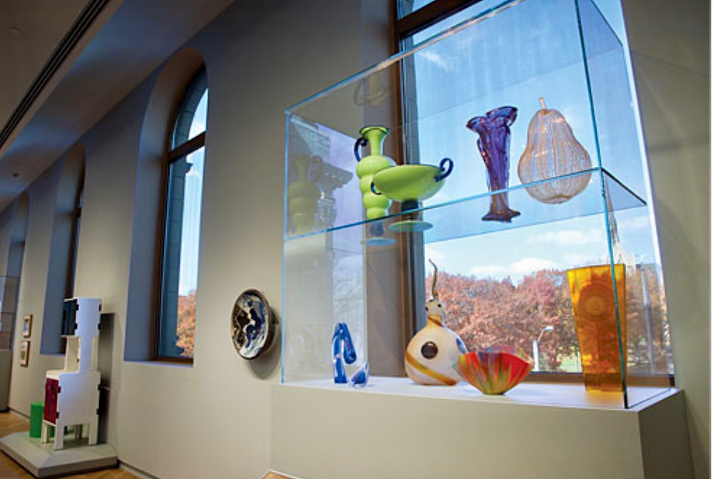 20th century glass objects in the Bruce Galleries