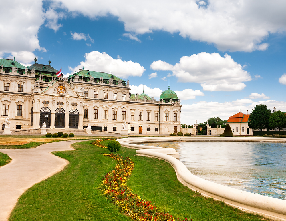 the wonderful Bevledere Palace in Vienna