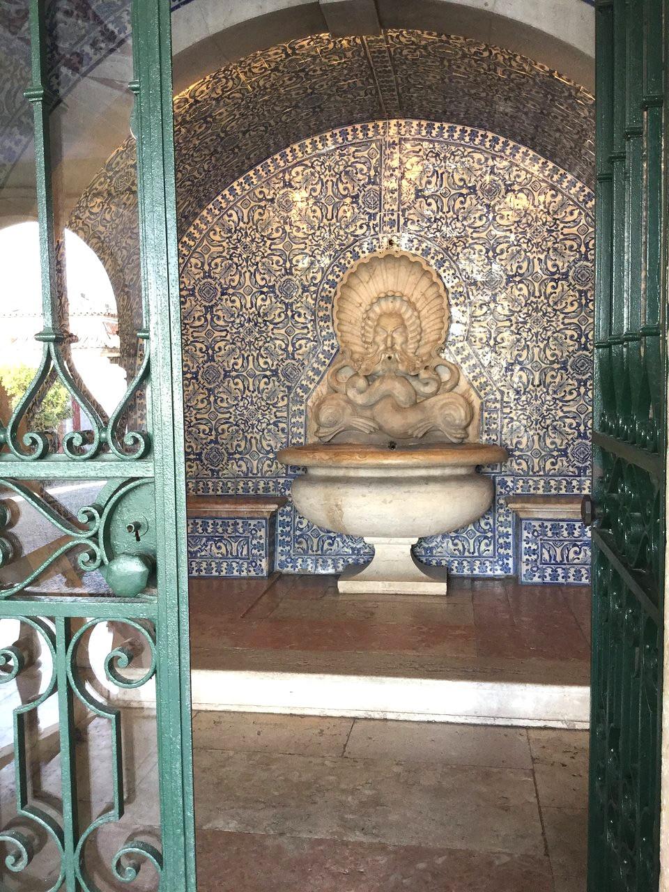 Moorish influence in the garden of Fronteira Palace