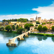 the town of Avignon in Provence