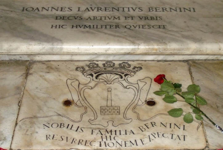 tomb of Bernini, the Baroque's most famous sculptor