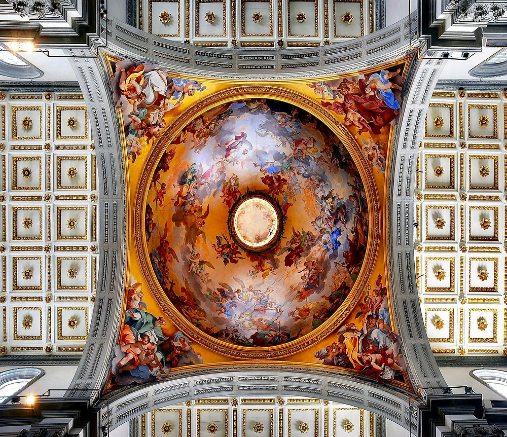 the dome in the apse