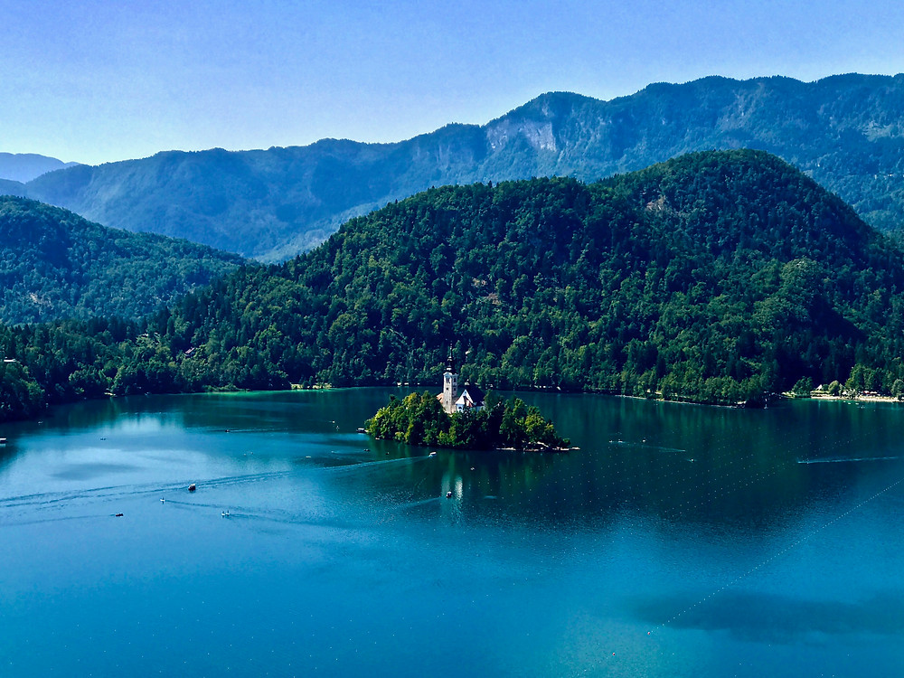 Bled Island on Lake Bled in Slovenia