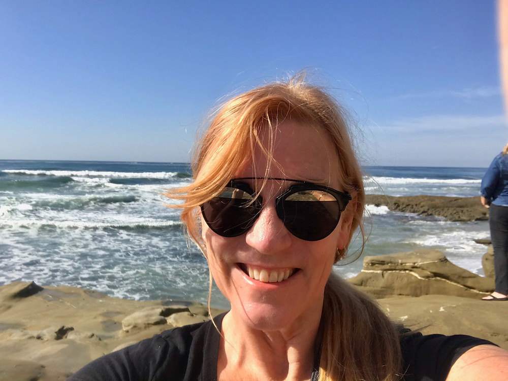 me walking the Coastal Trail in La Jolla