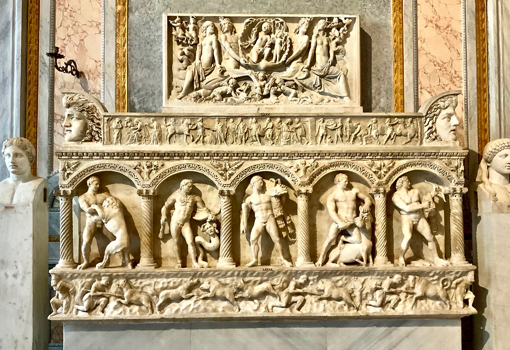 Frieze in the David Room of the Borghese Gallery