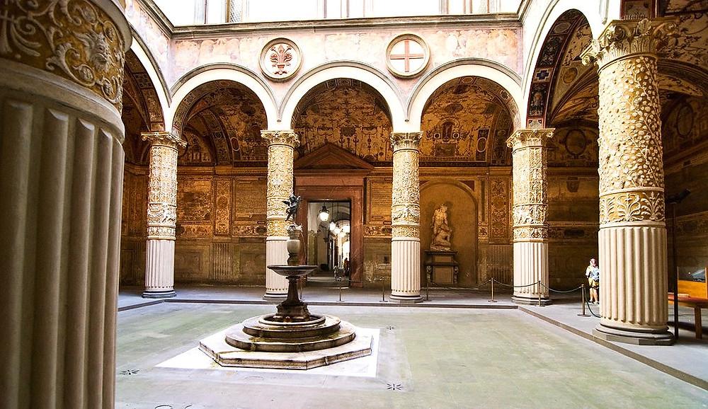 Michelozzo-designed courtyard of the Palazzo Vecchio