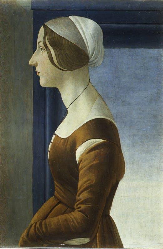 Botticelli, Bella Simonetta, 1485, in the Palatine Gallery