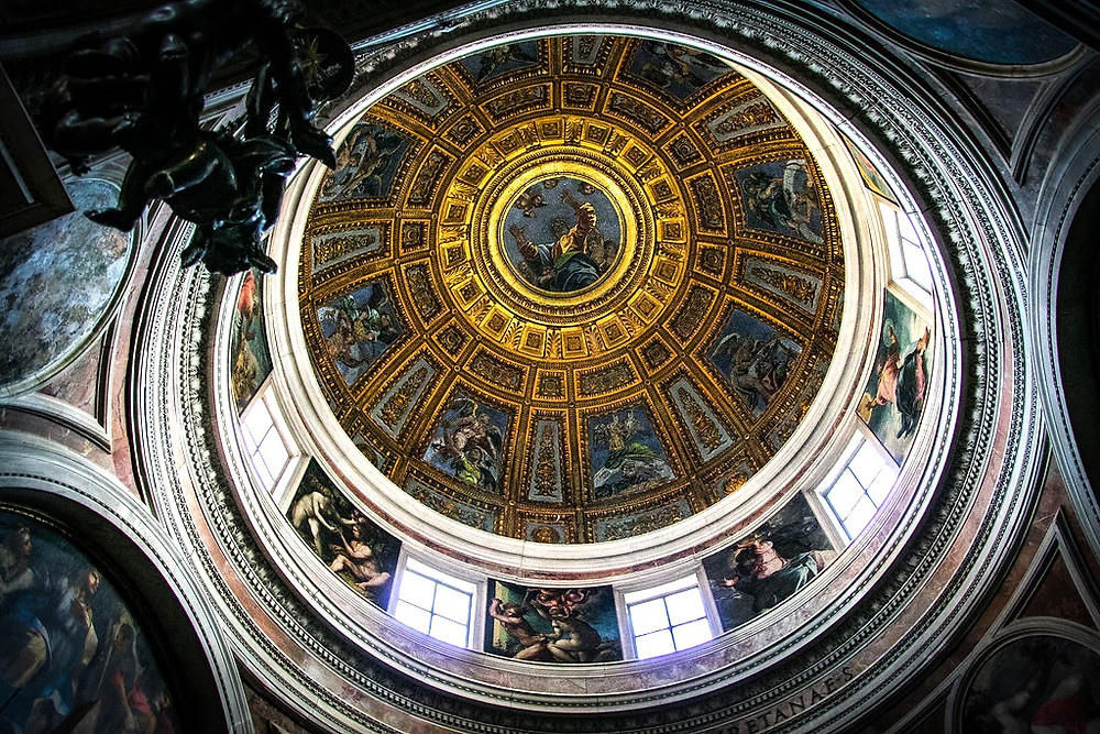 Raphael designed dome of the Chigi Chapel