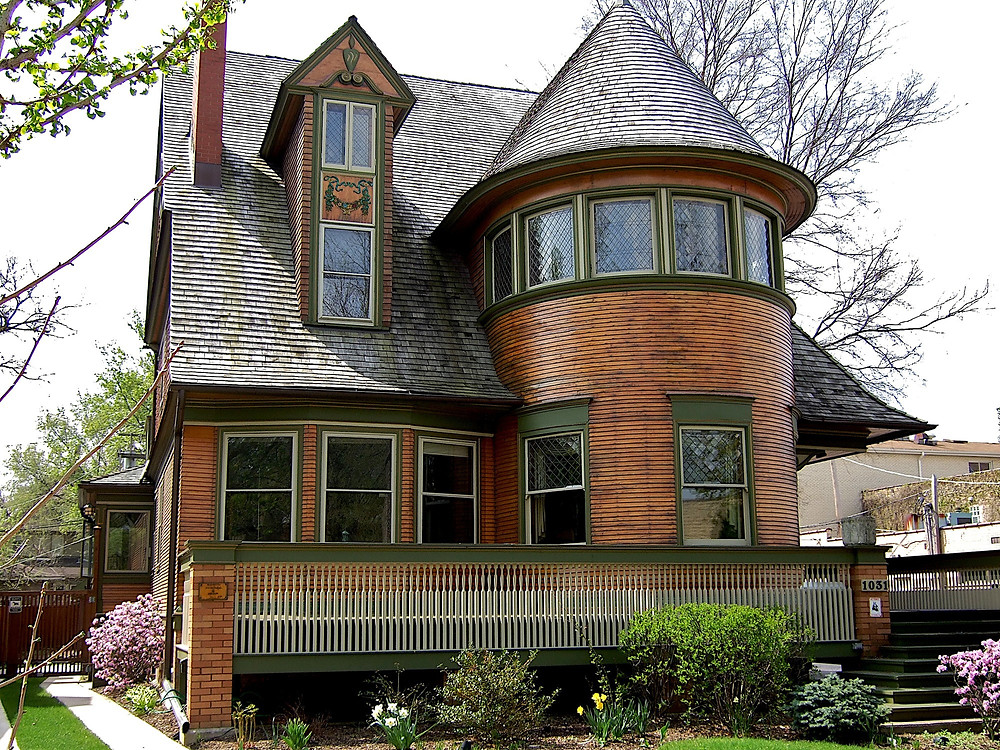the Frank Lloyd Wright designed Walter Gale home in Oak Park