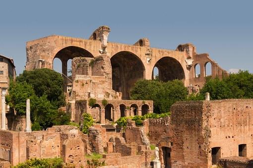 Basilica of Maxentius and Constantine, 306-12