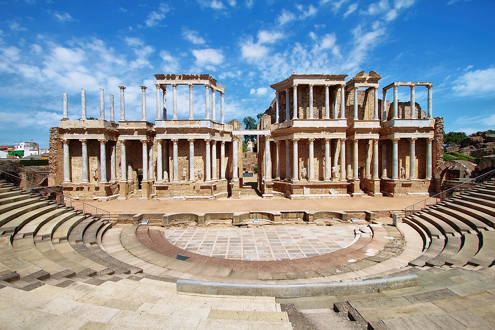 the impressive Roman Theater in Merida