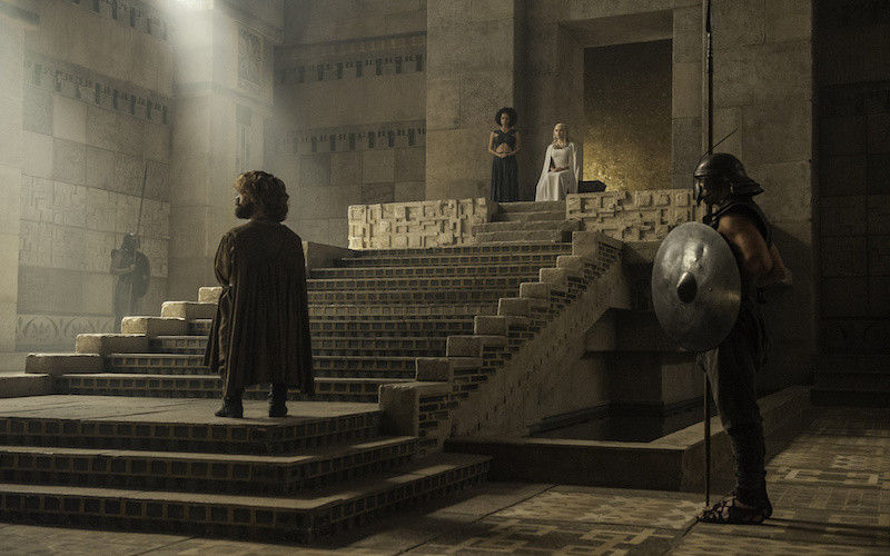 Daenerys Targaryen's throne room in Mereen, set in the cellars of Diocletian's Palace
