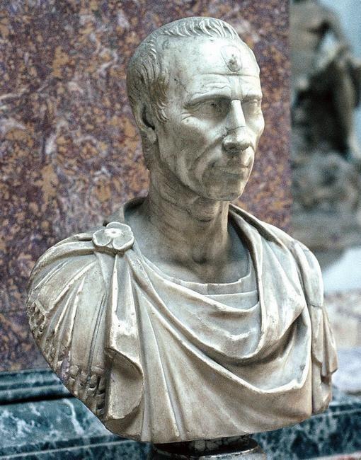 Bust of Julius Caesar in the Capitoline Museum in Rome