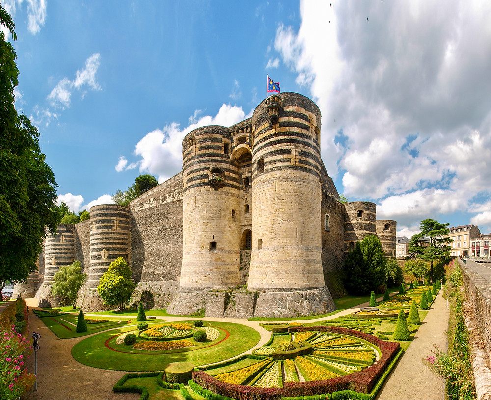 the fortified walls of the Chateau d'Angers